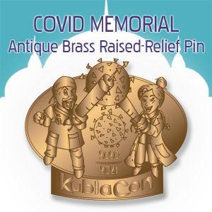 Merchandise Covid Memorial Raise Relief Antique Brass Pin