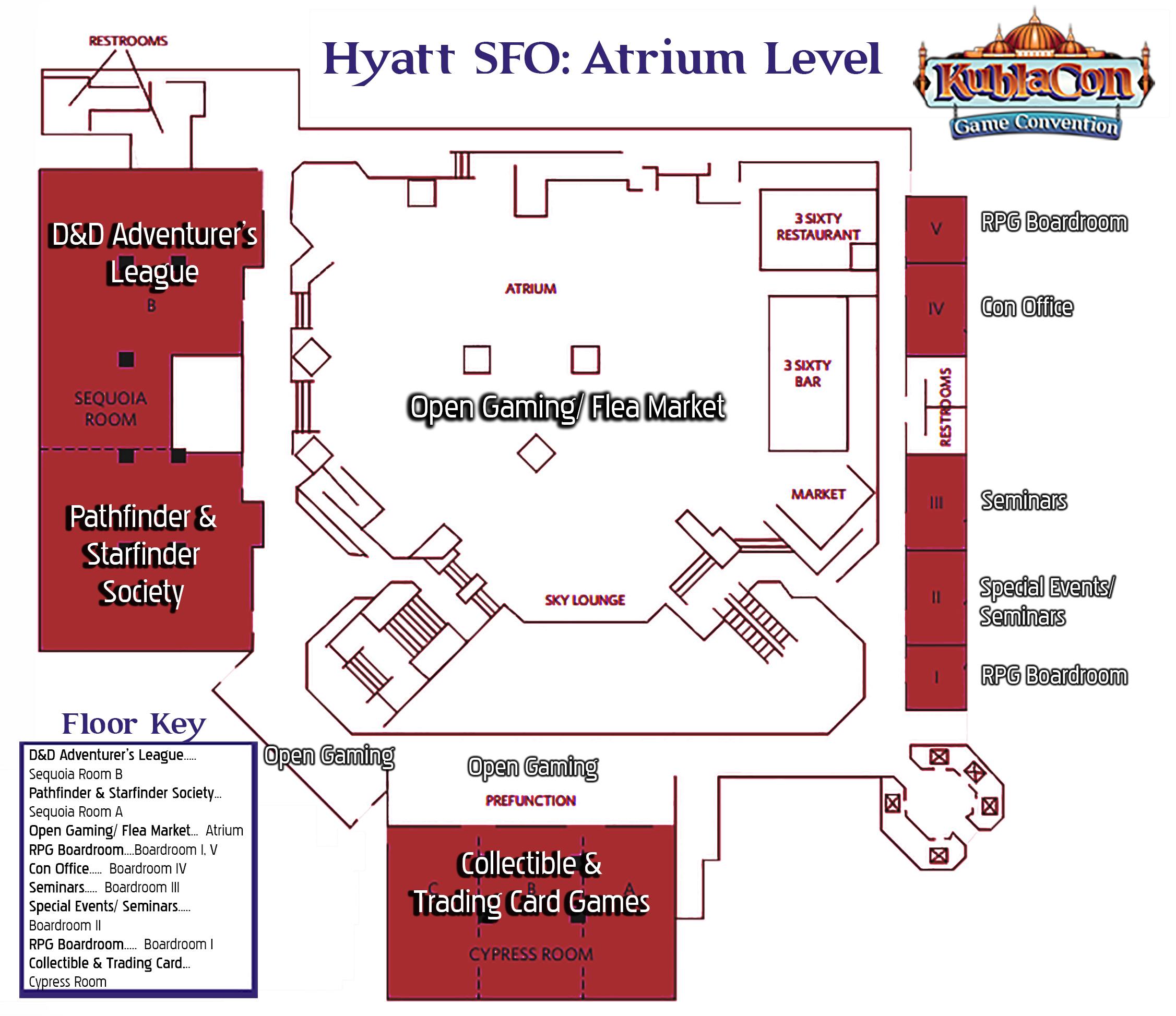 Hyatt SFO Attrium Level