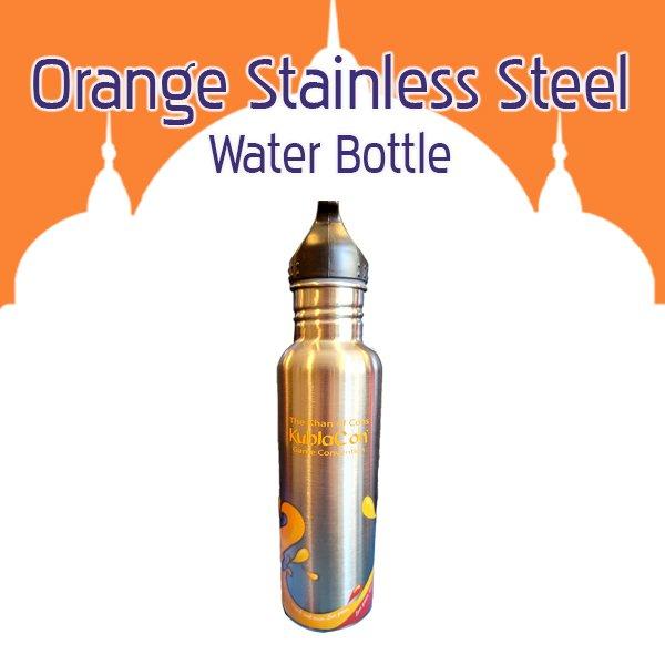 Orange Stainless Steel Water Bottle
